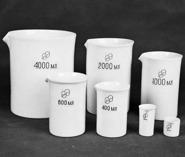 стаканы фарфоровые лабораторные